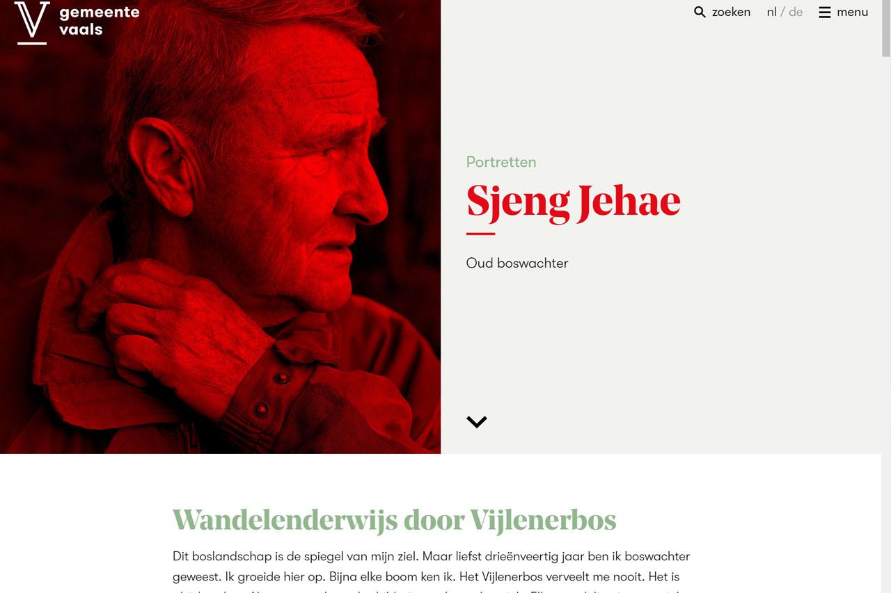 Toptaken website gemeente Vaals