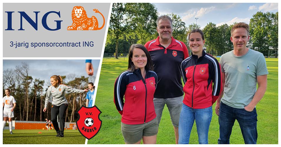 Sponsoring ING voor meiden-/vrouwenvoetbal VV Baarlo