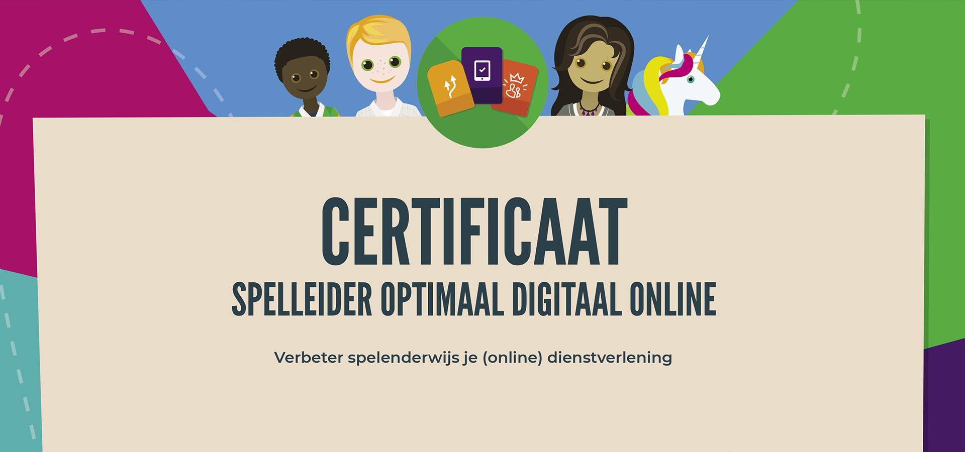 Afbeelding certificaat spelleider Optimaal Digitaal