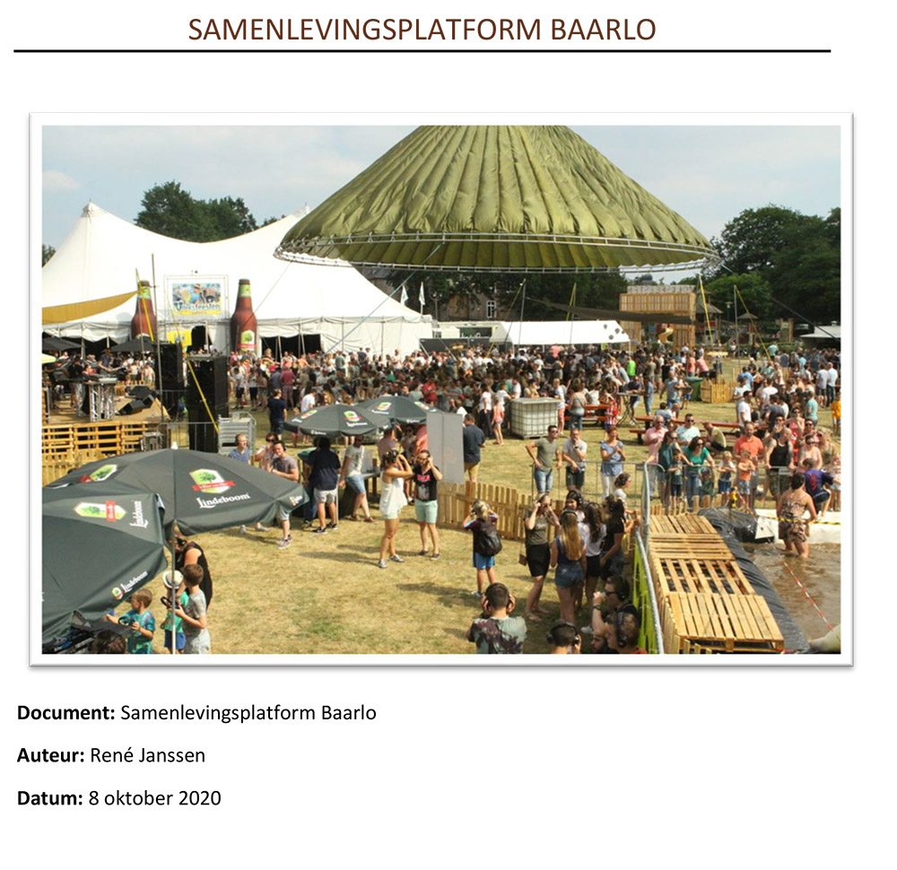 Cover document Samenlevingsplatform Baarlo